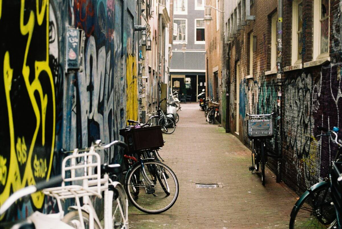 Bicycle and Graffiti Alley