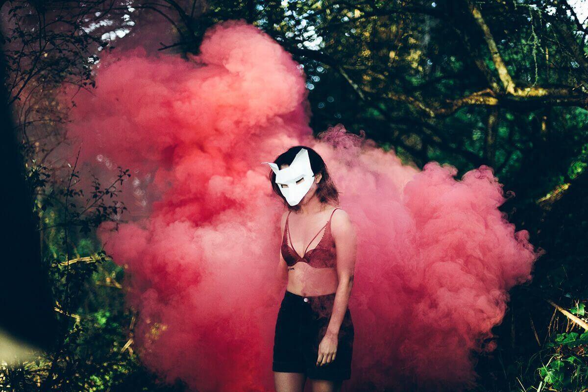 smoke rear foxgirl
